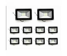 10×Anten 30W Projecteur LED Léger Spot LED Étanche IP65 Lampe Solide pour Extérieur et Intérieur
