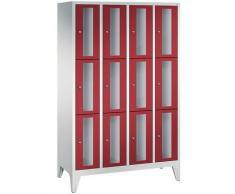 Quipo - CP Armoire à casiers CLASSIC, hauteur casiers 510 mm, sur pieds, 12 casiers, largeur 1190