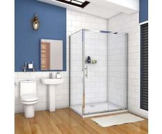 cabine de douche 130x90cm porte coulissante plus une paroi latérale hauteur :190cm