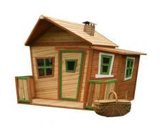 Lisa Maison Enfant en Bois FSC | Maison de Jeux pour l'extérieur / Jardin en marron & vert |
