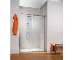 Porte de douche coulissante, verre 8 mm, profilé aspect chromé, MasterClass, Schulte, 140 x 200 cm