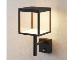 LED Lampe Exterieure Detecteur De Mouvement 'Cube' en aluminium
