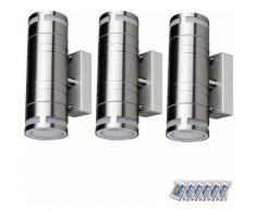 Ensemble de 3 lampes d'extérieur à LED RGB Façade Up Down Spots Dimmable Télécommande Appliques