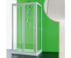 Idralite - Cabine douche 3 côtés 70x140x70 CM en acrylique mod. Mercurio avec ouverture laterale
