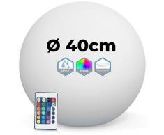 Boule LED Lumineuse Multicolore 40CM Sans Fil Fabriqué en Polyéthylène épais