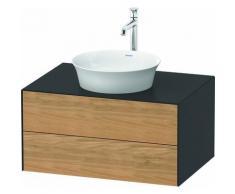 Duravit White Tulip, meuble-lavabo suspendu, largeur 800 x profondeur 550mm, avec 2 tiroirs, avec
