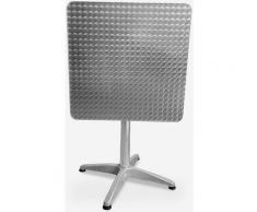 Table pliante carré bar extérieur en acier 70x70cm Locinas