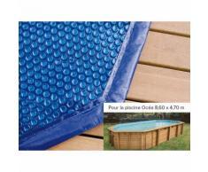 Bâche à bulles pour piscine bois Ubbink octogonale allongée Modèle - Ocea 8,60 x 4,70m octogonale