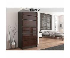 SOFIA 2W   Commode contemporaine chambre salon bureau   128x70x40   Dressing 6 tiroirs   Meuble de