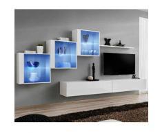 Paris Prix - Meuble Tv Mural Design switch Xx 330cm Blanc