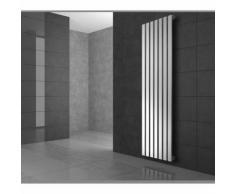ECD Germany Radiateur Design Radiateur Sèche Serviette Porte Serviette Mural 260* 1800 Blanc