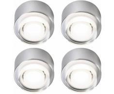 Ensemble de 4 LED Plafonniers Living Salle À Manger Éclairage Spot Spotlight Construction Lights