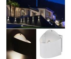 Ensemble de 8 appliques murales LED façades lampes d'éclairage de terrasses blanches Hof IP44