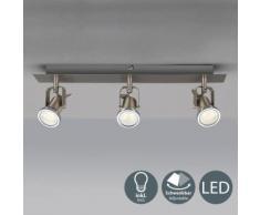 plafonnier LED 3 spots éclairage plafond design moderne spots plafond