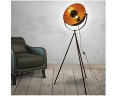 Lampadaire sur trépied Cinéma - H 144 cm x D 40 cm - Intérieur effet feuille d'or - Livraison