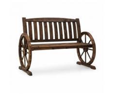 Blumfeldt Murnau Banc de jardin décoratif bois de sapin massif - marron