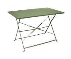 Altobuy - MALAM - Table de Repas Rectangulaire Pliante Kaki - Vert
