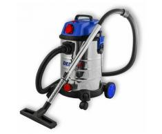 Hucoco - DTOOLS   Aspirateur industriel eau et poussière   1400 W + prise 2000W   Cuve inox