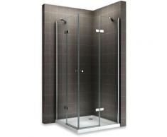 Saniverre - MAYA Cabine de douche H 190 cm en verre transparent 80x100 cm