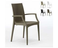 Chaises de jardin fauteuil accoudoirs bar café restaurants en Poly-rotin BISTRO ARM Grand Soleil |