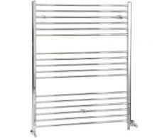 Hudson Reed Kent - Sèche-Serviettes Design Mixte Moderne Plat - Chromé - 120 cm x 100 cm