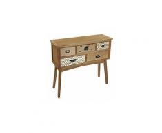 Pavia Meuble d'Entrée Étroit, Table console, 84,5x30x90cm - Marron - Versa
