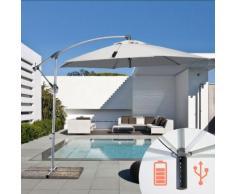 Parasol de jardin 3x3 bras avec USB chargeur de panneau solaire POWER