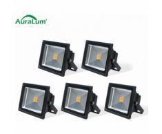 5×Auralum 50W Projecteur LED IP65 Spot LED 4200-5000LM Éclairage Extérieur et Intérieur Blanc Chaud