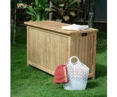 Coffre de jardin en teck Ecograde 120 cm Aoba