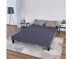 OLYMPE LITERIE | Sommier tapissier en kit | gris ciment | 140x190 cm