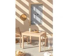 Table Extensible d'extérieur (90cm - 90x180cm) Starmi Aluminium - Rose Amande - Sklum