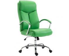 Fauteuil de bureau XL Vaud similicuir vert