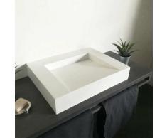 Vasque 60 cm à poser en solid surface sans percement - Soko II