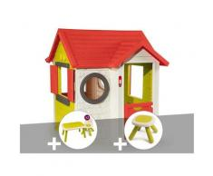 Cabane enfant My Neo House + Table et 2 chaises + Tabouret - Smoby