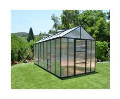 Serre de Jardin GLORY 8x16 gris anthracite - 11.8m²