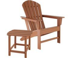Tectake - Chaise de jardin JANIS avec table KAMALA - fauteuil de jardin, fauteuil extérieur, chaise