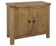 Buffet de 2 portes en bois Manguier - L. 90 x l. 40 x H. 80 cm -PEGANE-