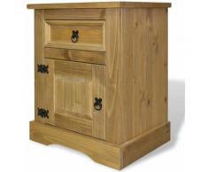 Table de nuit chevet commode armoire meuble chambre meuble de chevet pin mexicain gamme corona 53 x