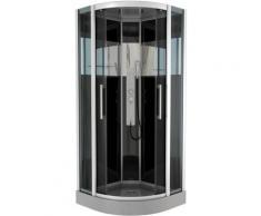 Cabine de douche COSMOS ROUND 1/4 de cercle 95x95x225cm