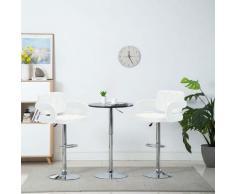 Chaise de bar pivotante 2 pcs Similicuir 54 x 58 x 115 cm Blanc