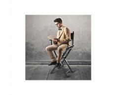 COSTWAY Chaise de Directeurs Haute Pliante Fauteuil Portable Chaise de Réalisateur en Bois Massif