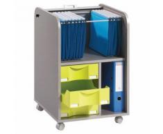 caisson mobile rideaux largeur 47,2 cm gris aluminium,