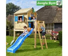 Maisonnette en bois sur pilotis Jungle Gym TAWO - 7 enfants