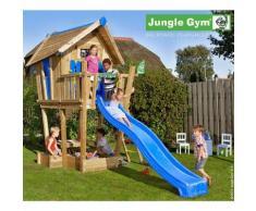 Maisonnette en bois sur pilotis Jungle Gym MUTAMBO - 7 enfants