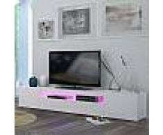 Meuble TV blanc laqué design MARCELLA