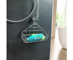 Étagère de douche à crochet - gris