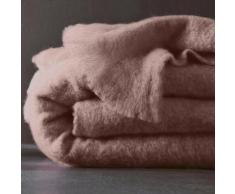 Couverture laine mohair - taupe