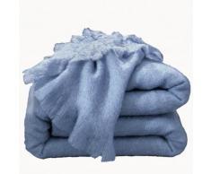 Couverture laine mohair - lavande