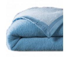 Couverture bicolore laine 730g/m2 Colombine® - bleu