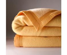 Couverture bicolore laine 730g/m2 Colombine® - miel